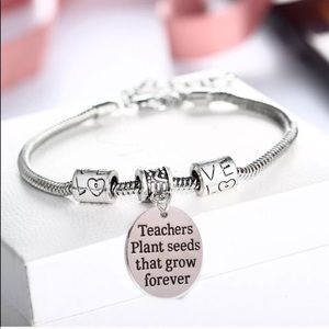 Teachers plant seeds bracelet